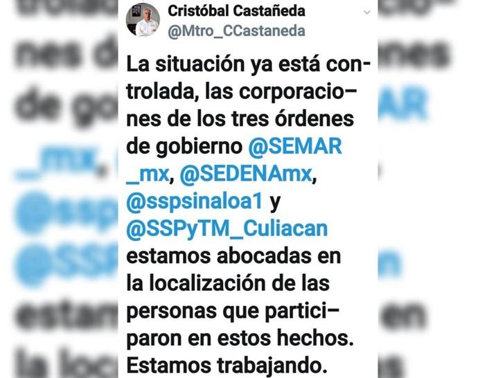 La situación ya está controlada; Castañeda sobre enfrentamiento