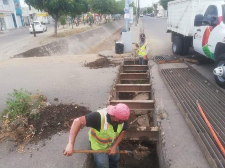 Rejillas pluviales del sector Barrancos reciben trabajos de limpieza