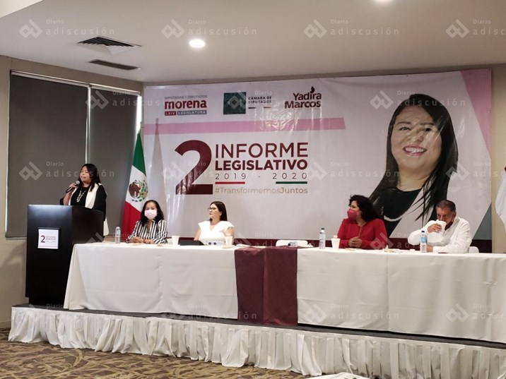 Rinde la Diputada federal Yadira Marcos segundo informe legislativo