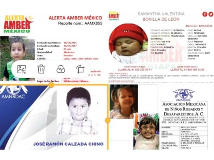 "México busca a 11 mil niños desaparecidos; ""Alerta Amber no sirve"""