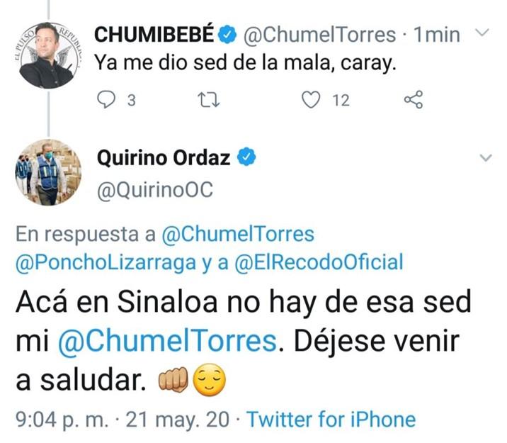 ¿Qué traman en Twitter Chumel Torres, Quirino y Poncho Lizárraga?