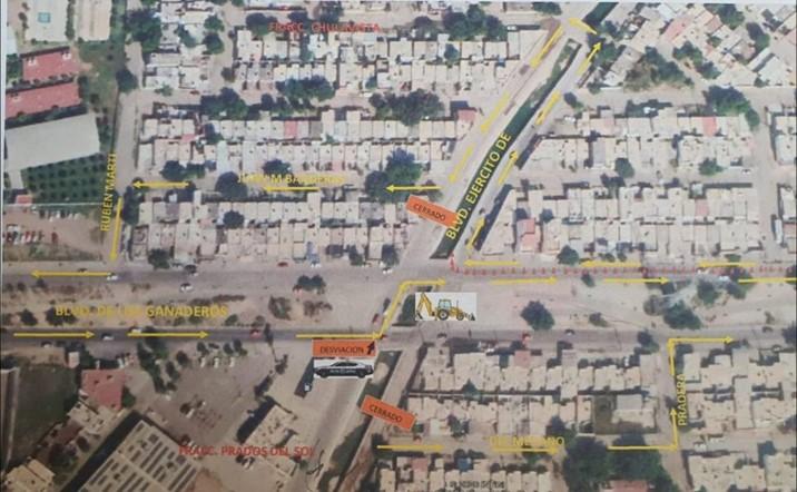 Cerrarán vialidades en el sector Chulavista de Culiacán desde temprana hora