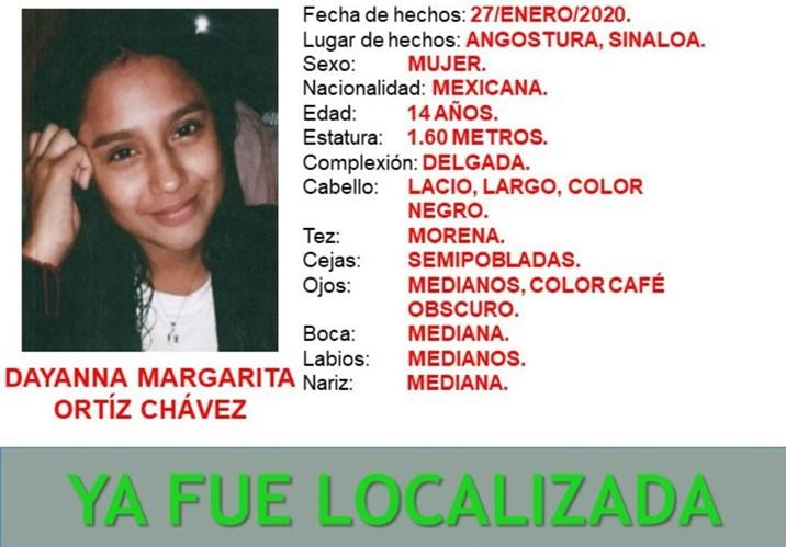 Localizada, jovencita que estaba desaparecida en Angostura