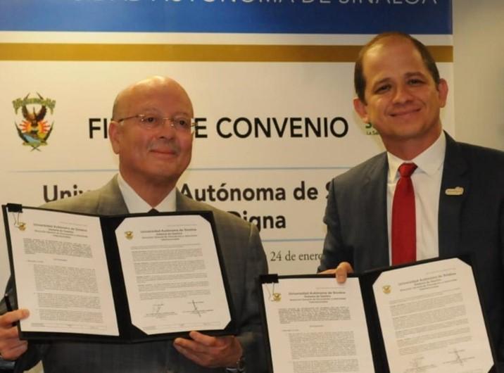 Firma la UAS convenio con Salud Digna en beneficio de estudiantes