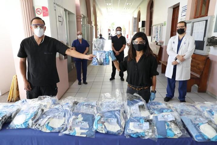 Realiza JAP Sinaloa segundo donativo de material de protección médico en 4 hospitales