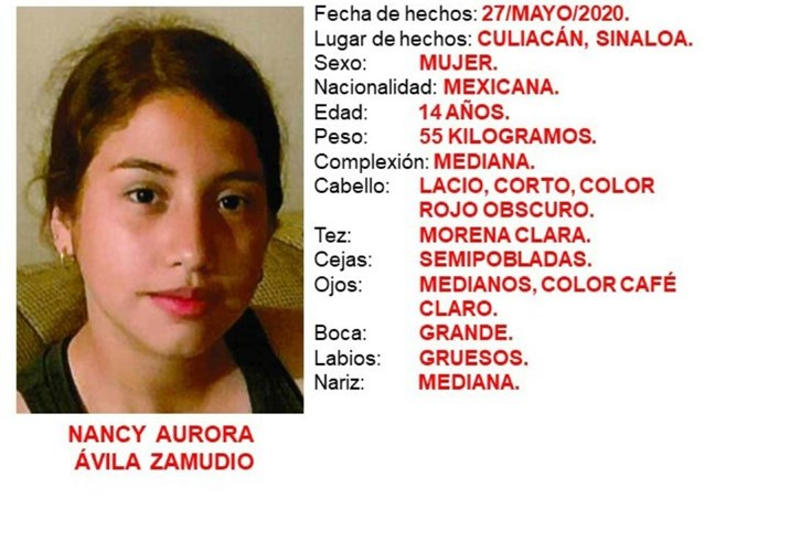 Alerta Amber: Buscan en Culiacán a la adolescente Nancy Aurora