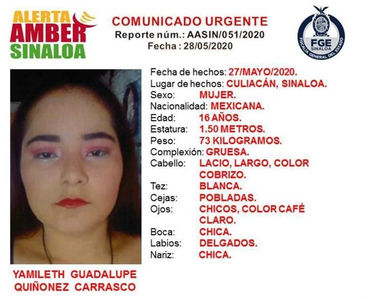 Alerta Amber: Desaparece otra joven en Culiacán