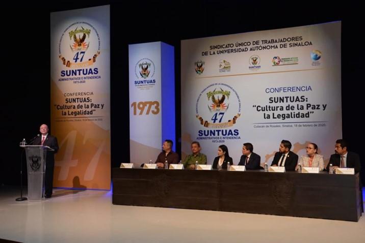 Asiste Rector a inauguración de festejos por el 47 aniversario del SUNTUAS Administrativos